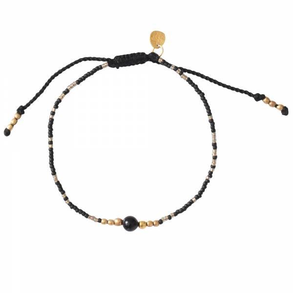 Iris Black Onyx Gold Bracelet