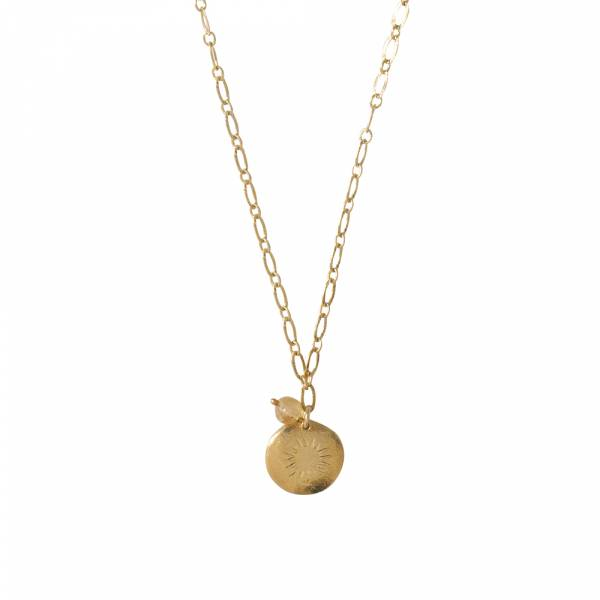 Rose Citrien Goud Ketting