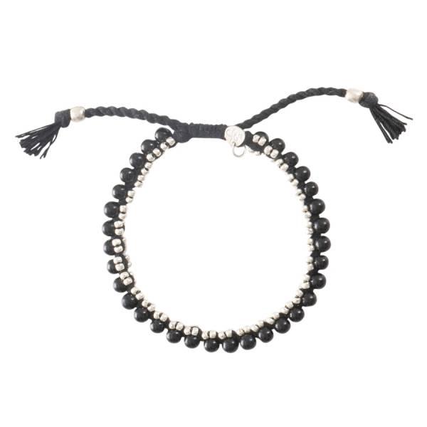 Jetty Zwarte Onyx Zilver Armband