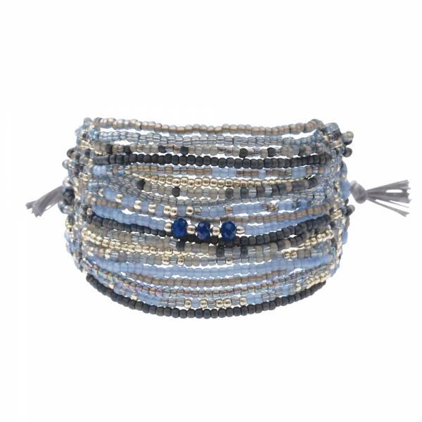Brilliant Lapis Lazuli Silver Bracelet
