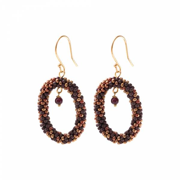 Faith Garnet Gold Earrings
