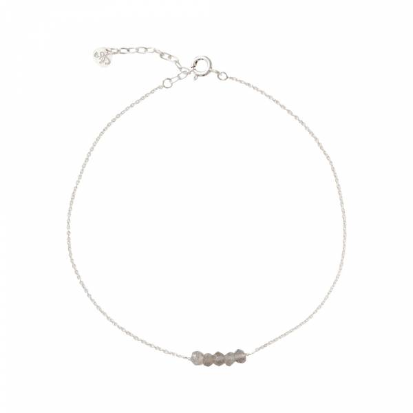 Cute Labradorite Sterling Silver Anklet
