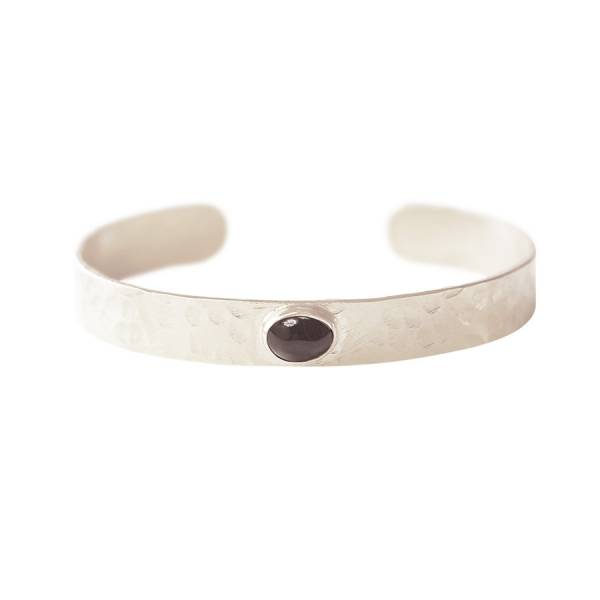 Liberty Black Onyx Silver Bracelet