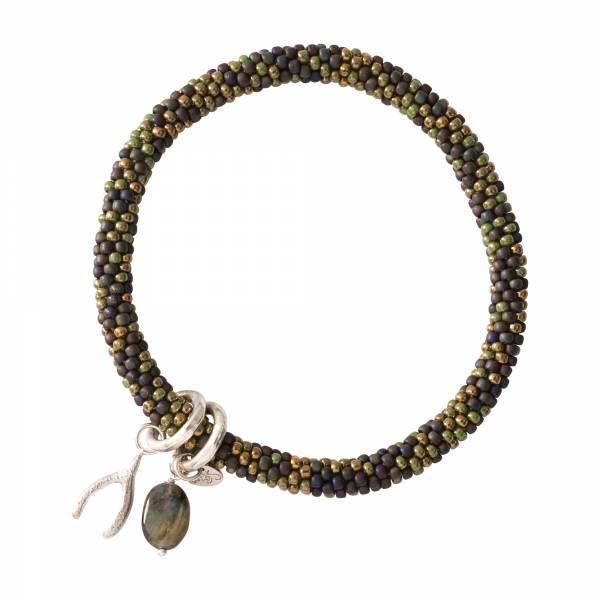 Jacky Multi Color Labradorite Silver Bracelet