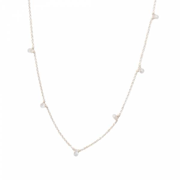 Mini Moonstone Sterling Silver Necklace