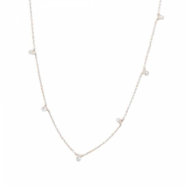 Mini Mondstein Sterlingsilber Halskette