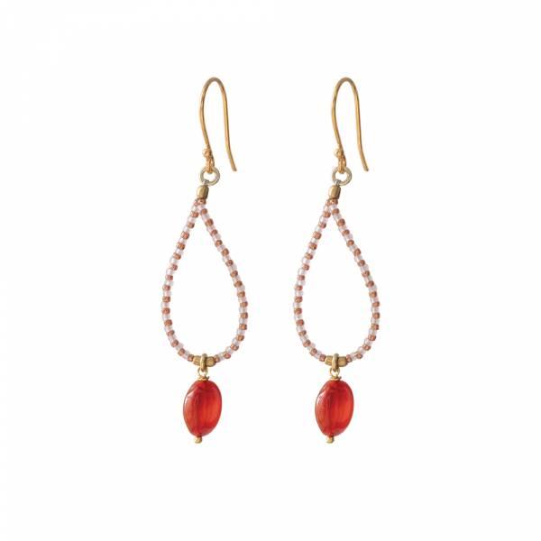 Magical Carnelian Gold earrings