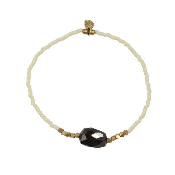 Joy Zwarte Onyx goud armband