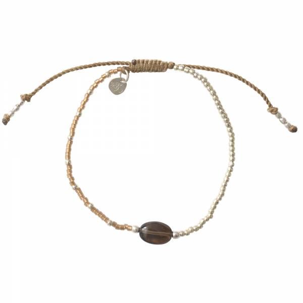Ruby Smokey Quartz Silver Bracelet