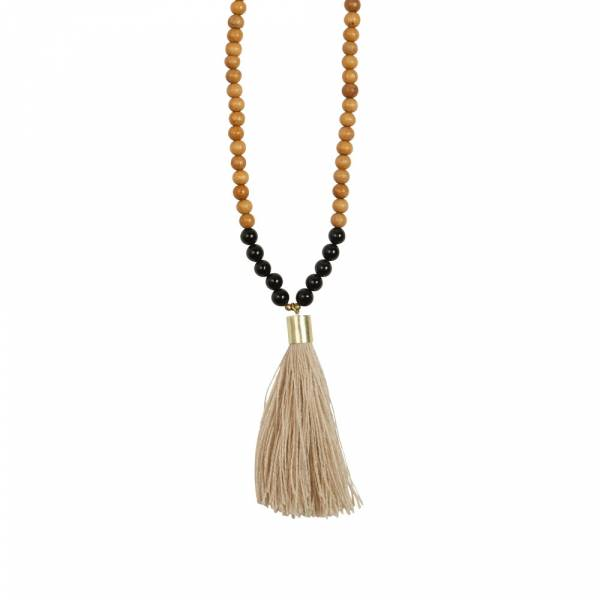 Mala Black Onyx sandal wood necklace