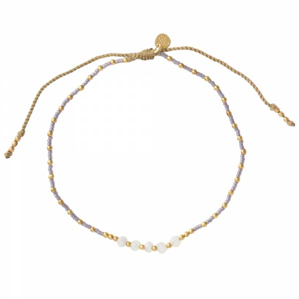 Confetti Moonstone Gold Anklet