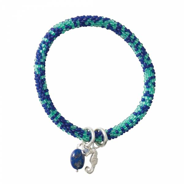 Jacky Multi Color Lapis Lazuli Zilver Armband