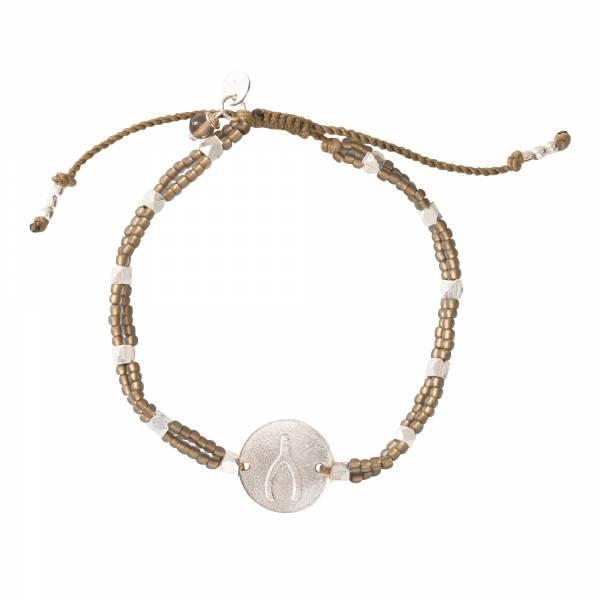 Gratitude Smokey Quartz Silver Bracelet