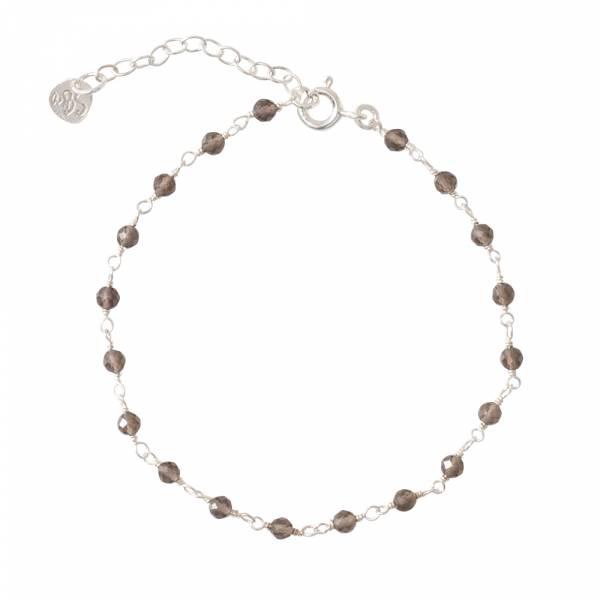 Harmony Smokey Quartz Silver Bracelet