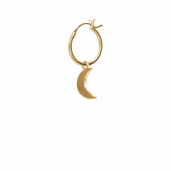 Big Moon Sterling Silver Gold-Plated Hoop Earring