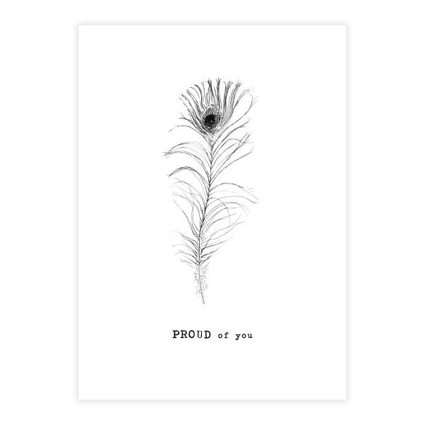 Greeting Card Peacock