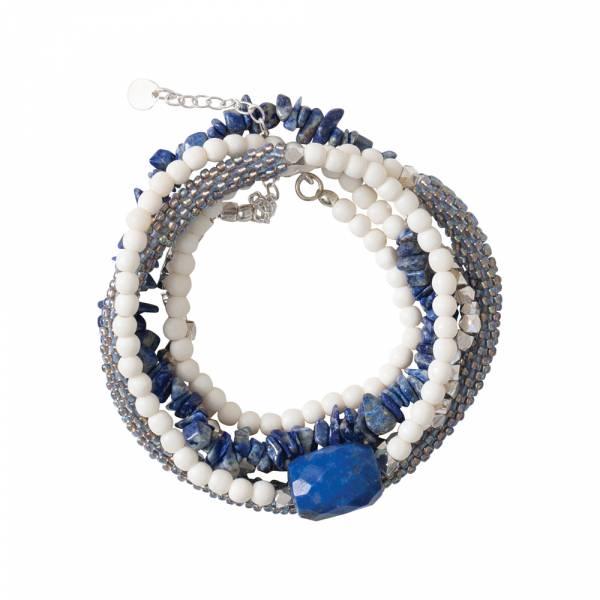 Superwrap Lapis Lazuli Silver bracelet