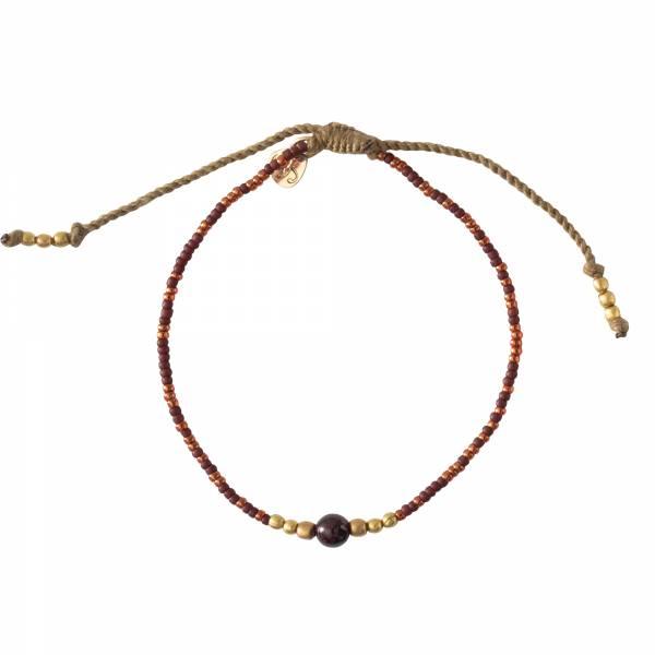 Iris Garnet Gold Bracelet