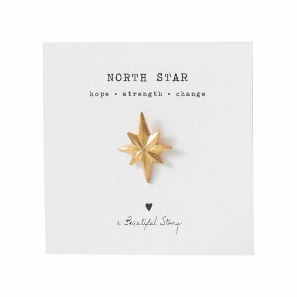 Brooch North star Gold