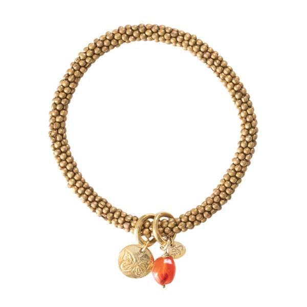 Jacky Karneol Schmetterling Gold Armband