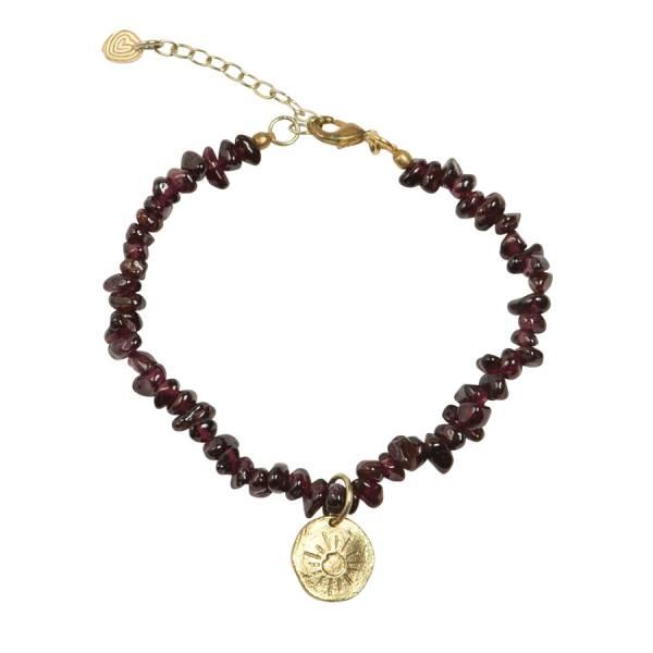 Power Garnet sun gold bracelet