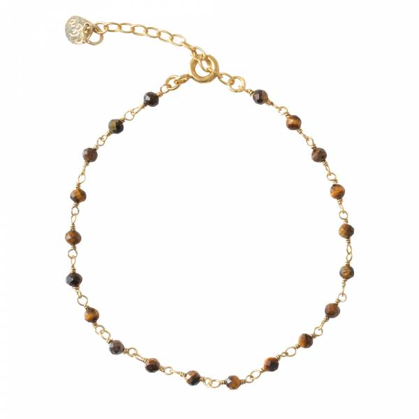 Harmony Tiger Eye Gold Bracelet