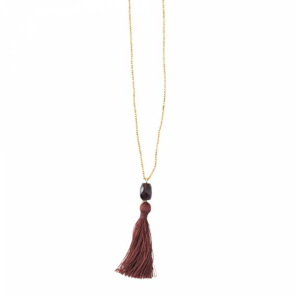Happy Granat Gold Halskette