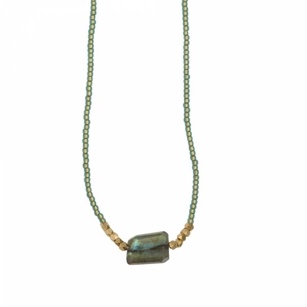 Joy Labradorite gold necklace