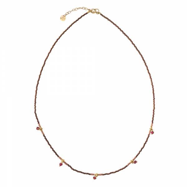 Cocoon Granat Gold Halskette