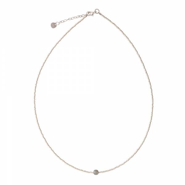 Flora Labradorit Silber Halskette