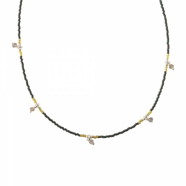 Cocoon Labradorit Silber Halskette