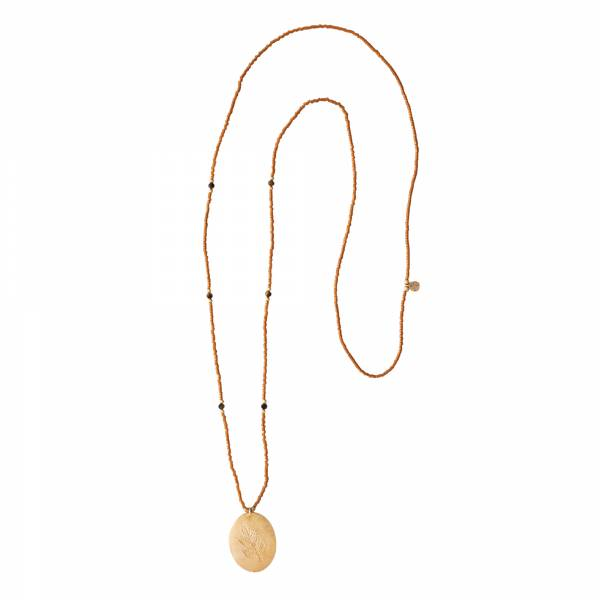 Swing Tiger Eye Gold Necklace
