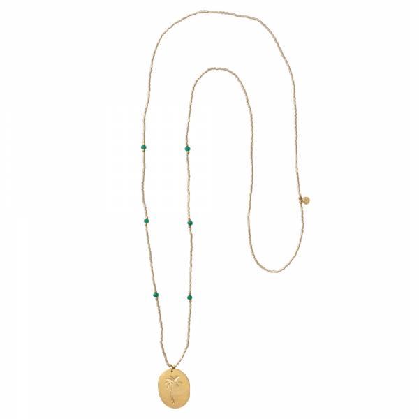 Swing Aventurine Gold Necklace