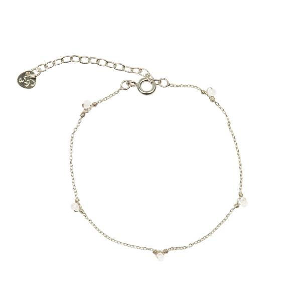 Mini Moonstone Sterling Silver Bracelet