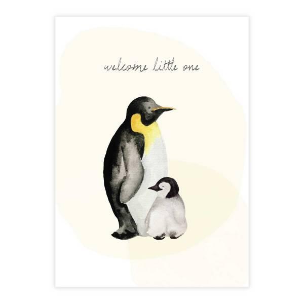 Greeting Card Pinguin