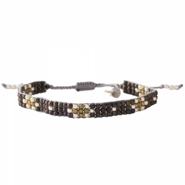 Summerlight Labradorite Silver Bracelet