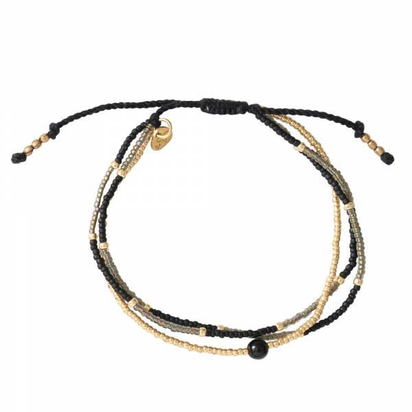 Party Zwarte Onyx Goud Armband