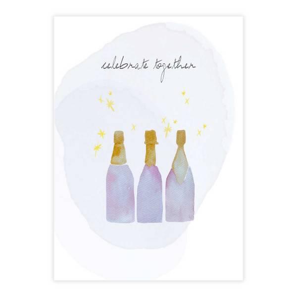 Greeting Card Champagne