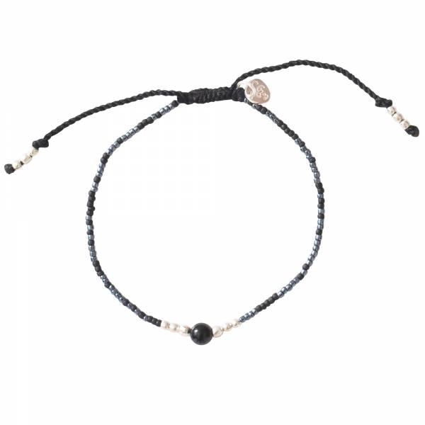 Iris Schwarzer Onyx Silber Armband