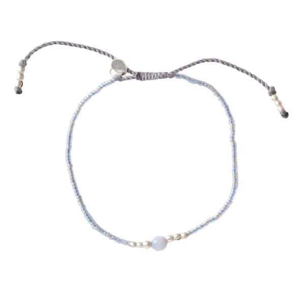 Iris Blue Lace Agate Silver Bracelet