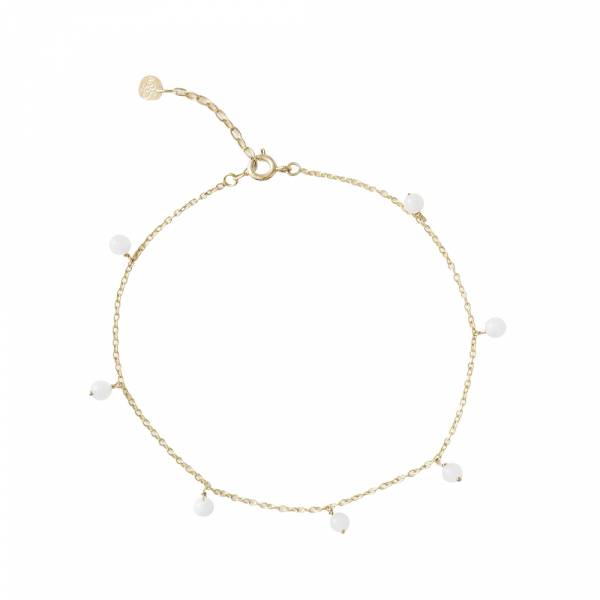 Adore Moonstone Sterling Silver Gold-Plated Anklet