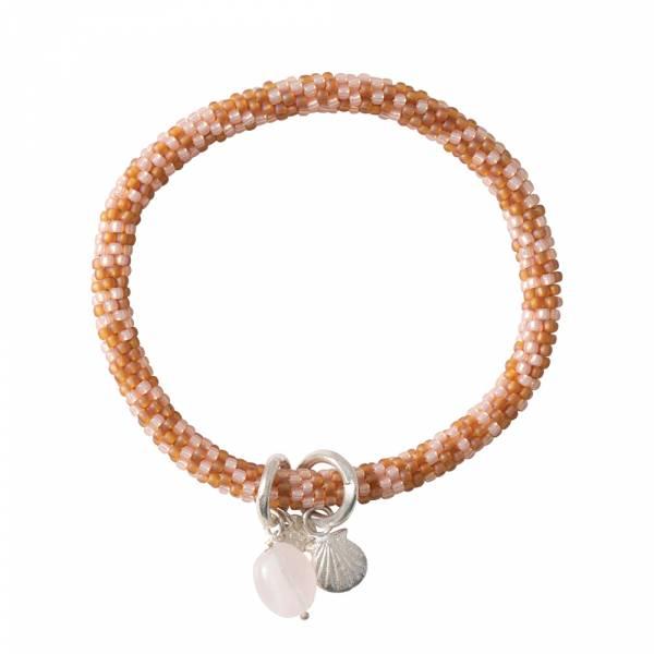 Jacky Multi Color Rosenquarz Silber Armband
