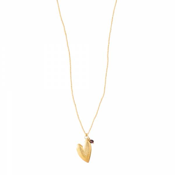 Paradise Garnet Gold Necklace