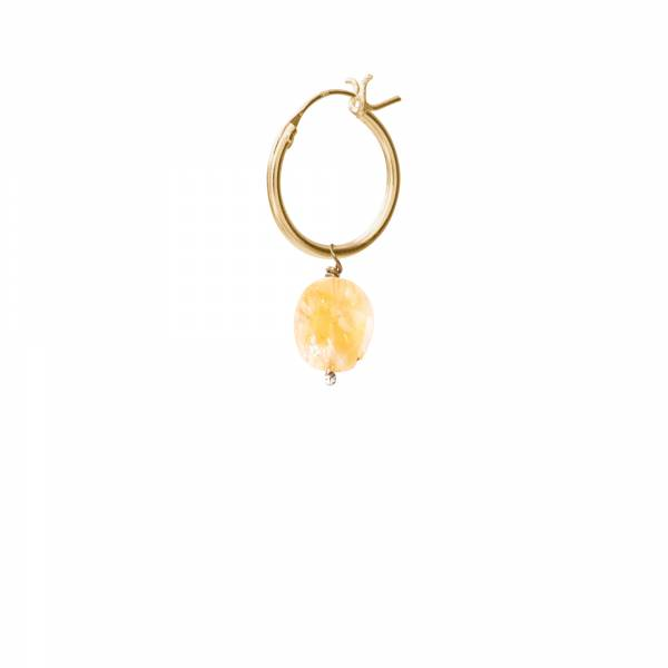 Citrine Gold Hoop Earring