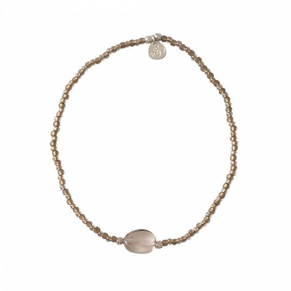 Summer Rookkwarts Zilver Armband