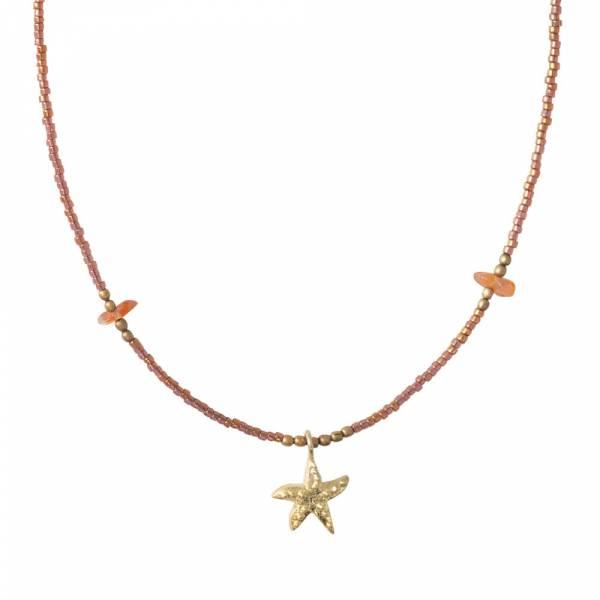 Wildflower Carnelian Gold necklace
