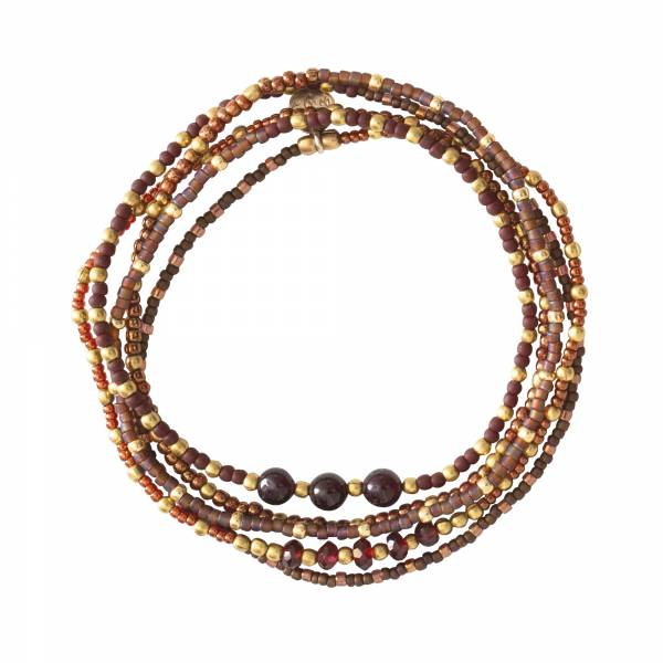Together Garnet Gold Bracelet