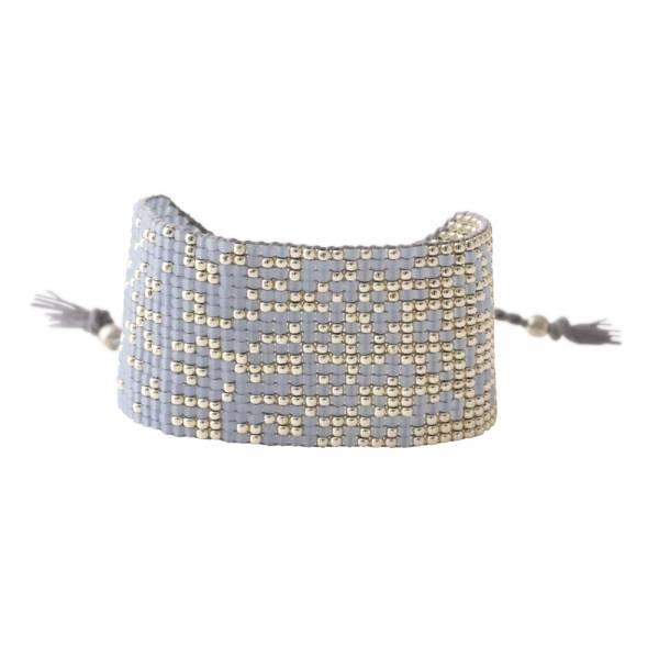 Sunny Blue Lace Agate Silver Bracelet
