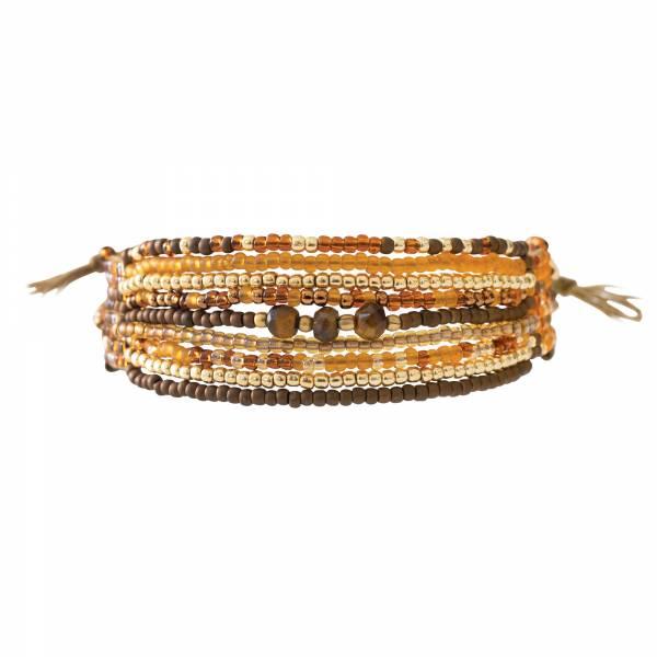 Brightness Tiger Eye Gold bracelet
