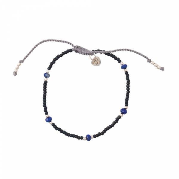 Friendly Lapis Lazuli Silver Bracelet